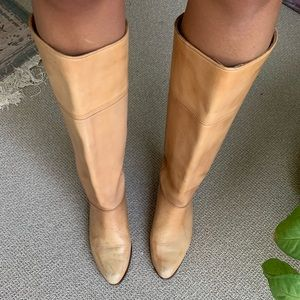 Woman's vintage leather boots